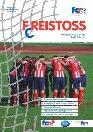 Clubheft Freistoss 2012 - FC Rotkreuz