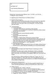 Protokoll der Sitzung 2007