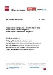 PRESSEKONFERENZ voestalpine Klangwolke ... - Brucknerhaus