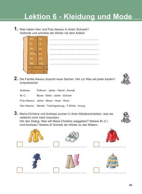 Lektion 6 Kleidung und Mode