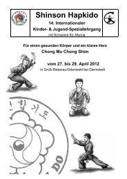 14. Internationaler Shinson Hapkido Kinder