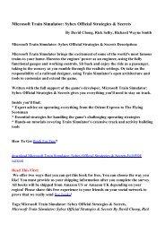stock add-on packs for Microsoft Train Simulator - team-ALCO
