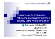 Evaluation of timetables by estimating passengers' personal ... - IVT