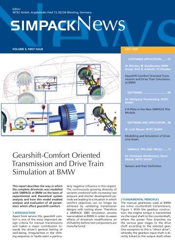 Gearshift-Comfort Oriented Transmission and Drive Train Simulation ...