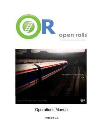 Operations Manual - Open Rails
