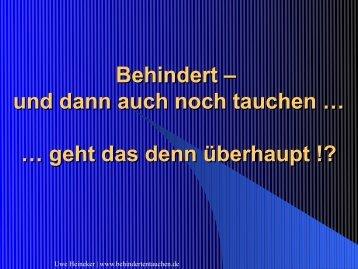 Meine Tauch-Highligts - Uwe Heineker: Tauchen