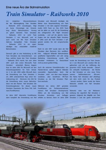 Train Simulator - Railworks 2010 - Train Sim Magazin