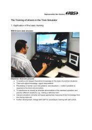 The Training of drivers in the Train Simulator 1 ... - LOCSIM
