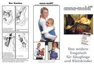 Das andere Tragetuch für Säuglinge und Kleinkinder - Anna Mobil