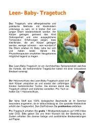 Tragehilfe Leen - Pünktchen & Anton
