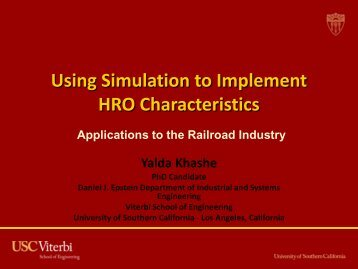 Using simulation to implement HRO ... - Joint Commission