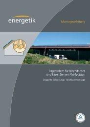 Montageanleitung Tragesystem für Blechdächer und Faser-Zement ...