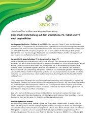Xbox macht Unterhaltung auf dem Smartphone, PC, Tablet und TV ...