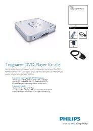 PET100/12 Philips Tragbarer DVD-Player