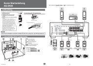 Kurze Startanleitung AG-D500 Lieferumfang - TEAC