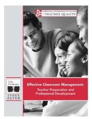 Effective Classroom Management - National Comprehensive Center ...