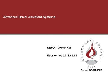 Advanced Driver Assistant Systems