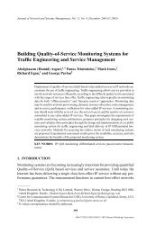 Building Quality-of-Service Monitoring Systems for Traffic - UCL ...