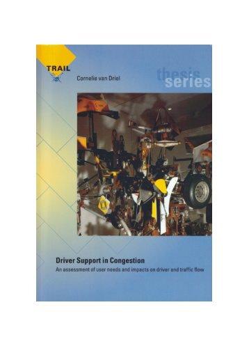 Driver Support in Congestion - Universiteit Twente