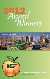 Award Winners - Institute of Transportation Engineers