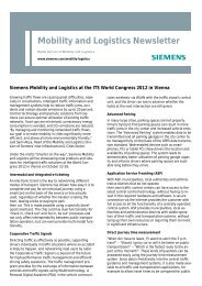 Mobility and Logistics Newsletter - ITS World Congress 2012