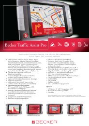 Becker Traffic Assist Pro