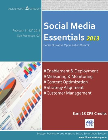 Social Media Essentials 2013 - Altamont Group
