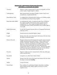 Michigan WIC Anthropometric Measurement Procedures APPENDIX
