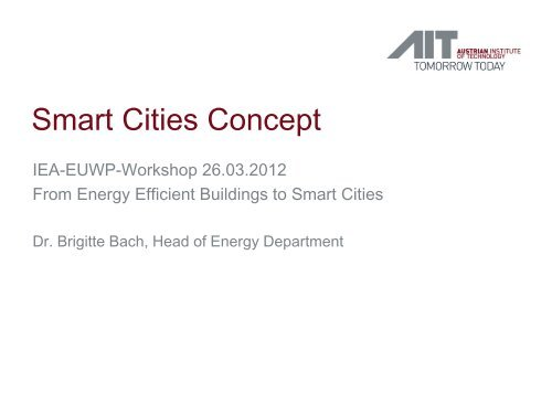 Smart Cities Concept From Energy Efficient Buildings to Smart Cities