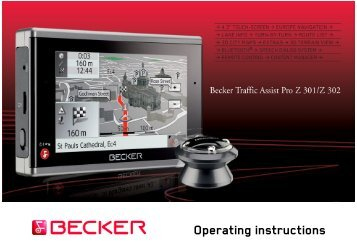 Operating instructions - mobilenavigation.mybecker.com - Harman ...