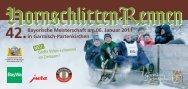 42.Bayerische Meisterschaft am 06. Januar 2011 in Garmisch ...
