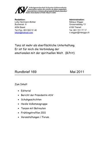 editorial - Arbeitsgemeinschaft Schweizer Volkstanzkreise