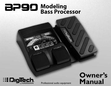 BP90 Owner's Manual-English - Digitech