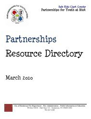 Partnerships Resource Directory - City of Las Vegas