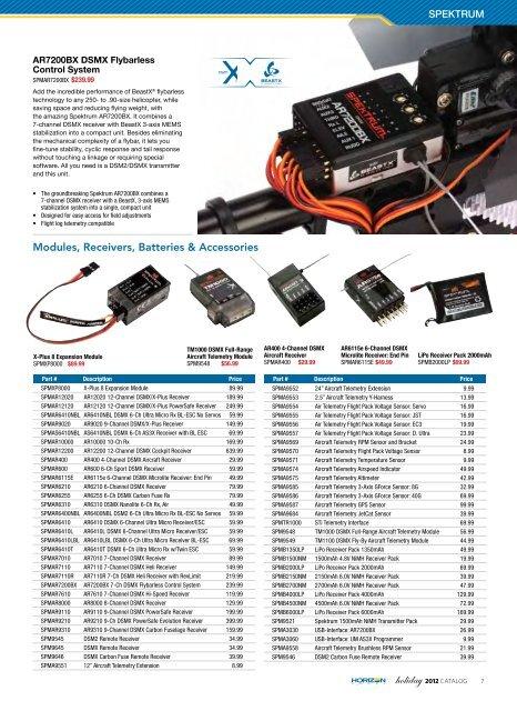 Servo Spektrum Air Telemetry Flight Pack Voltage Sensor P-SPMA9554