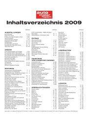 Inhaltsverzeichnis 2009 - Auto Motor und Sport
