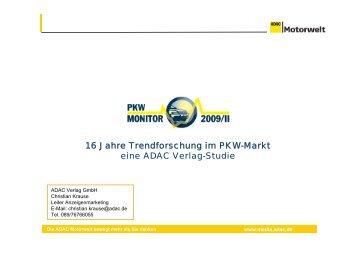 16 Jahre Trendforschung im PKW-Markt eine ADAC Verlag-Studie