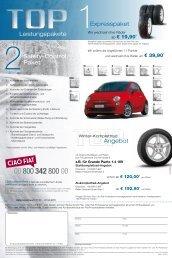 Leistungspakete Angebot Expresspaket Safety-Control Paket - Fiat