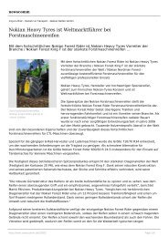Nokian Heavy Tyres ist Weltmarktführer bei ... - newscomm.de