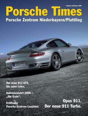 Opus 911. Der neue 911 Turbo. Porsche Zentrum Niederbayern ...