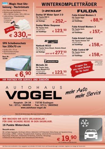 unsere top-räder- angebote - Autohaus Vogel