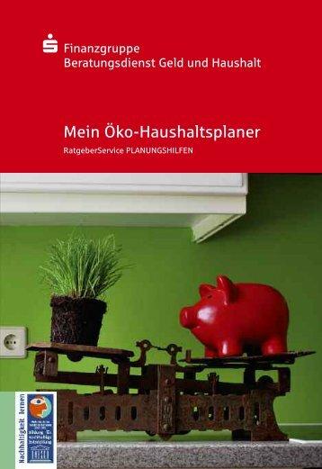 Mein Öko-Haushaltsplaner - Sparkasse Wilhelmshaven