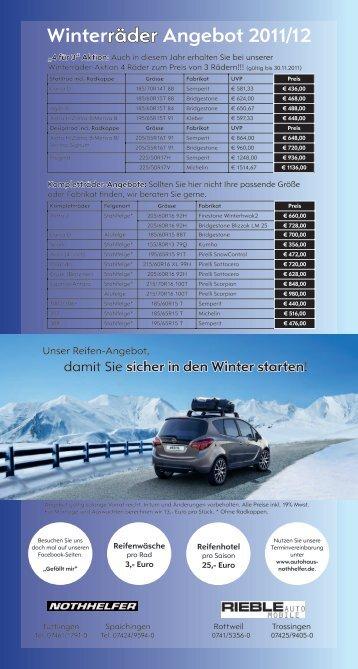 Winterräder Angebot 2011/12 - Autohaus Nothhelfer