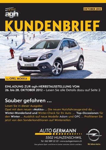 Kundenbrief Herbst 2012 Opel - Auto Germann