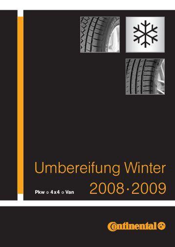 Umbereifung Winter 2008·2009 - Gamma Reifen & Felgen ...