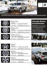Aktuelle Winter- kompletträder. - Autohaus Winter KG