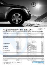 Angebot Winterreifen 2010/2011 - Kestenholz GmbH