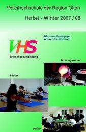 Allgemeine Kurse - Volkshochschule der Region Olten