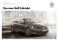 Golf GTI Cabrio Preisliste (pdf 1MB) - Autohaus MAX Waldstraße