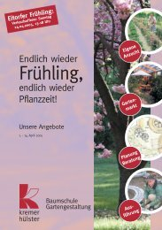 Eigene Anzucht Garten- markt Planung Beratung ... - kremer & hülster